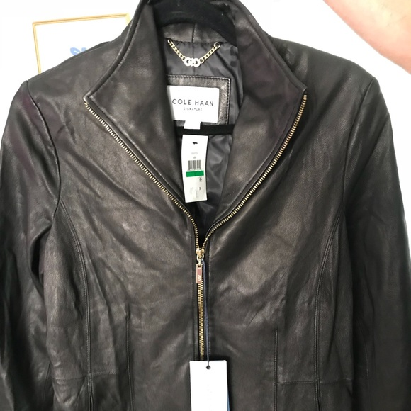 0a912c847298d Cole Haan Black Leather Jacket